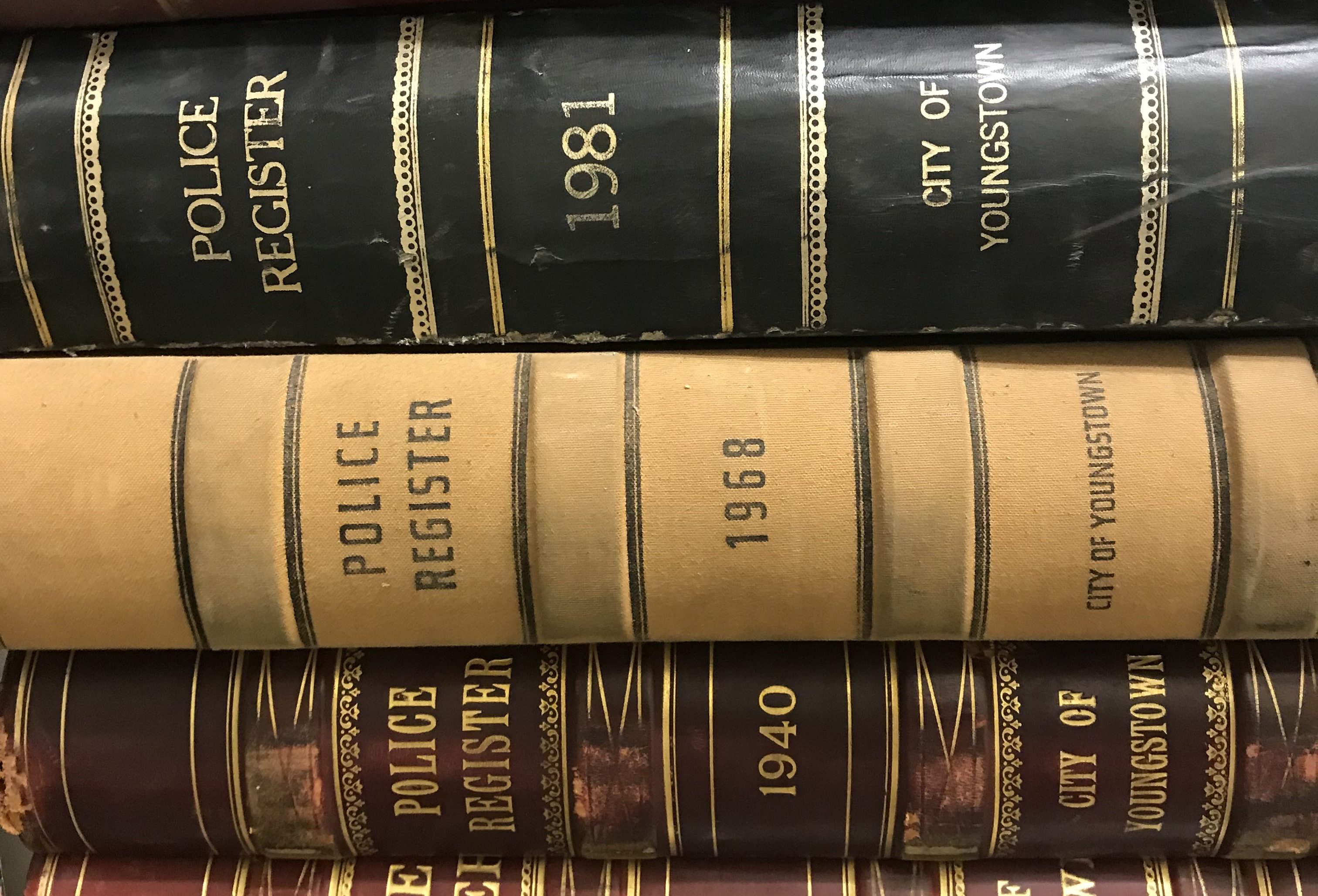 Youngstown Police Department Register Books
